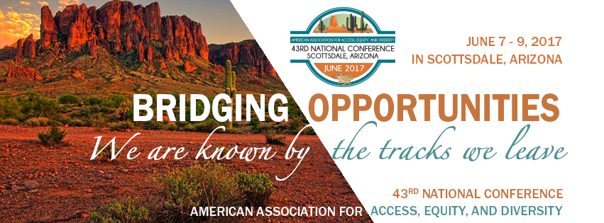 Conference Banner, Bridging Opportunities: We are known by the tracks we leave - June 7-9, 2017