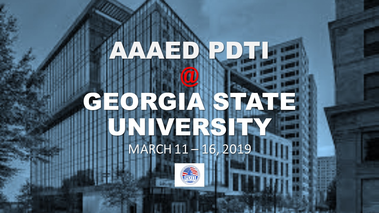 AAAED Professional Development and Training Institute Banner