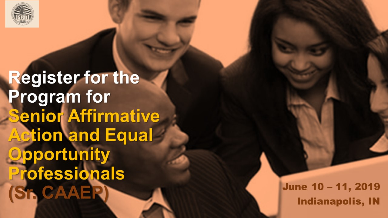 PDTI Program for Senior Affirmative Action and EEO Professionals Banner