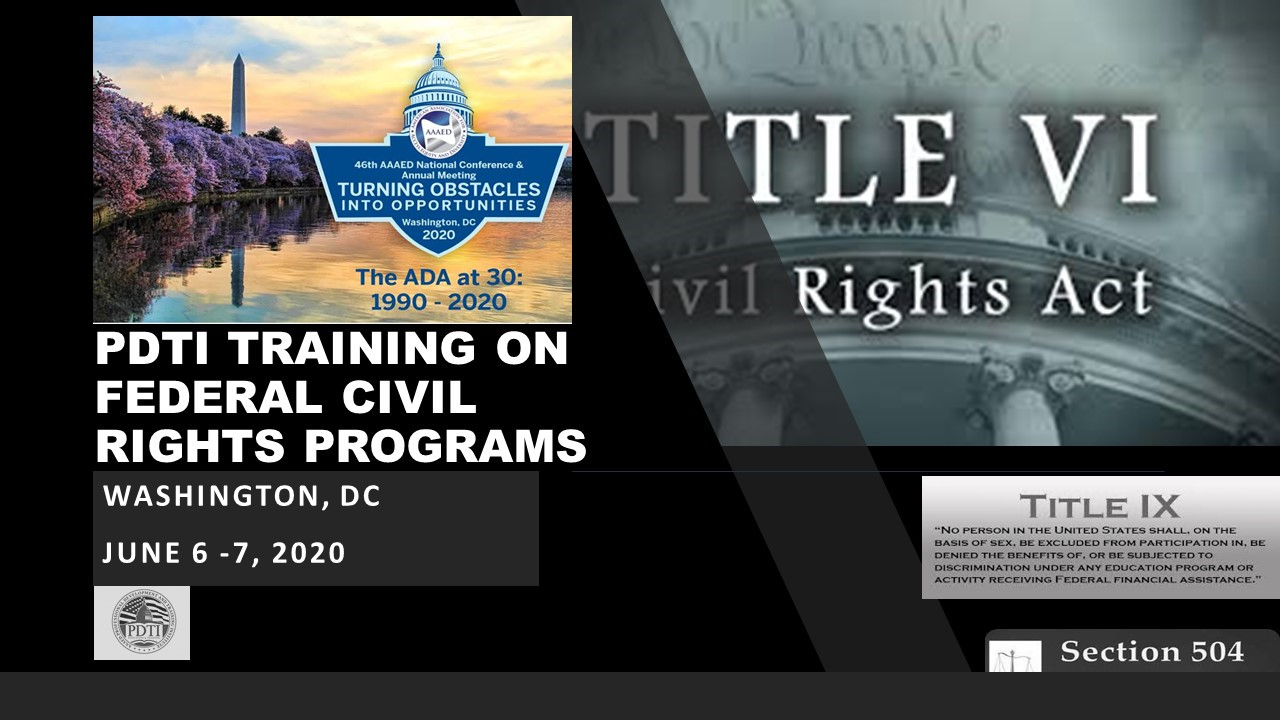 Training on Title VI and Sec 504 Banner